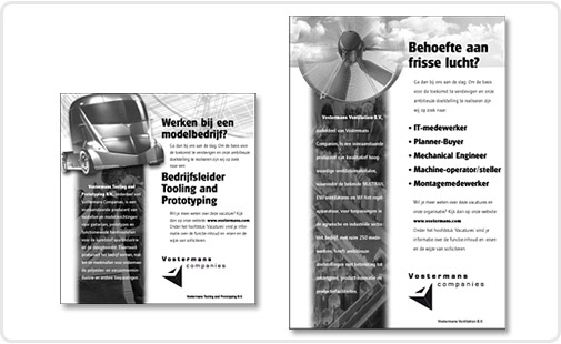 Vostermans-advertenties